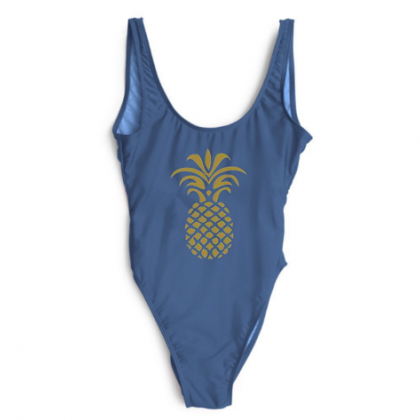Sexy hot golden print pineapple one..